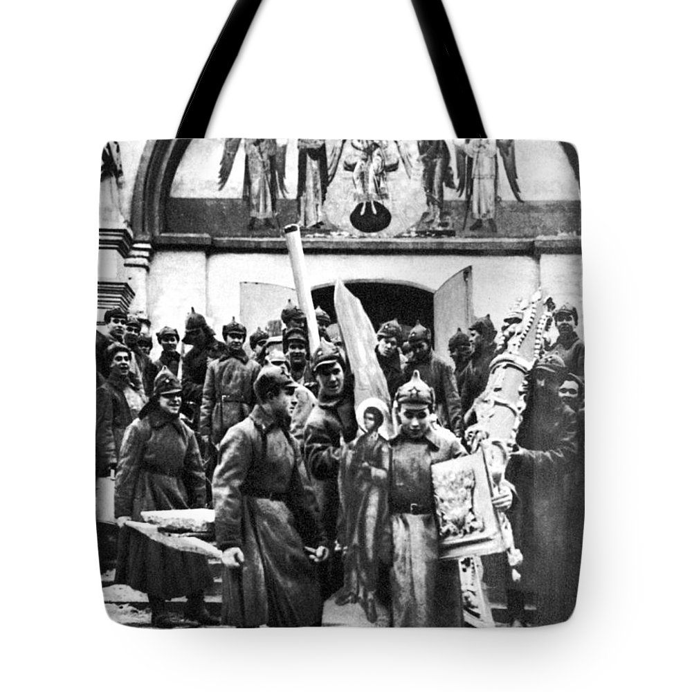 1920s Tote Bag featuring the photograph Soviet Anti-religion Policy by Granger
