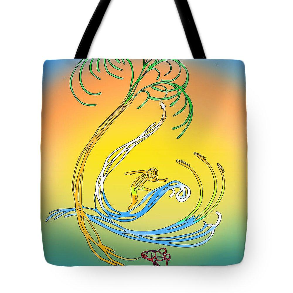 Nasa Tote Bag featuring the digital art Space Coast Florida by Francesa Miller