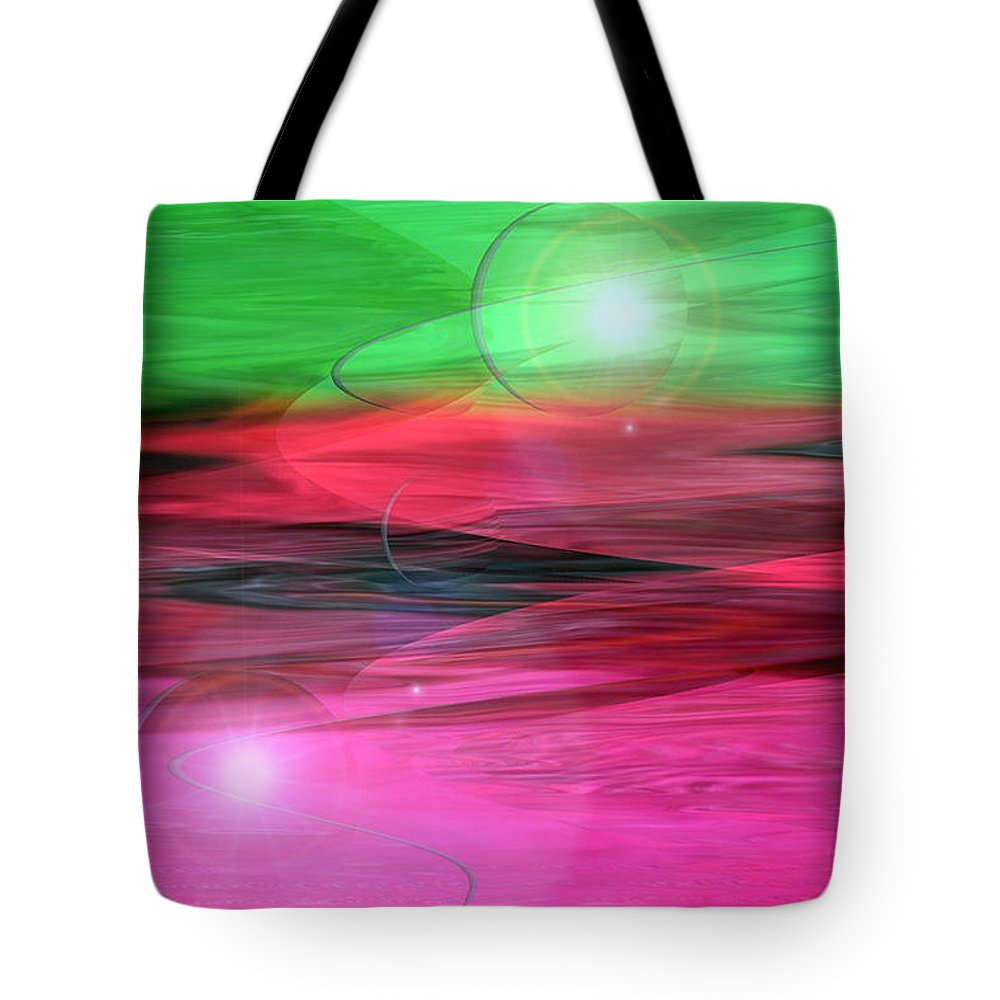 Space Art Tote Bag featuring the digital art Space Oddity by Linda Sannuti