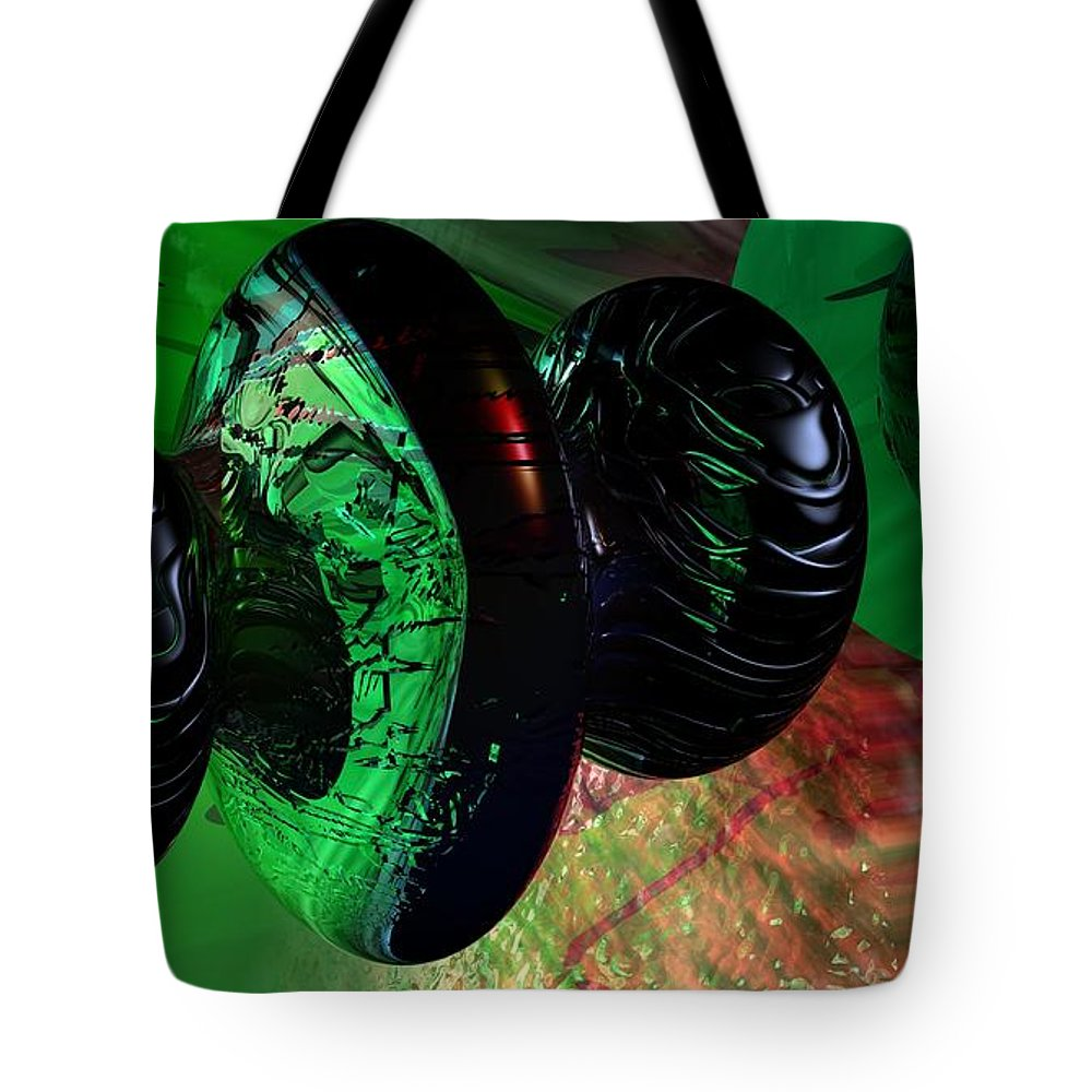 Space Art Tote Bag featuring the digital art Space Reflections by David Lane