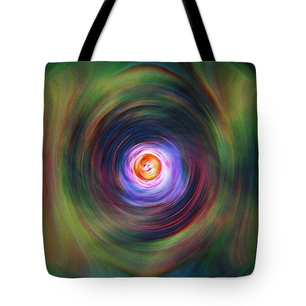 Abstrract Tote Bag featuring the digital art Space Time Sequence by Don Quackenbush
