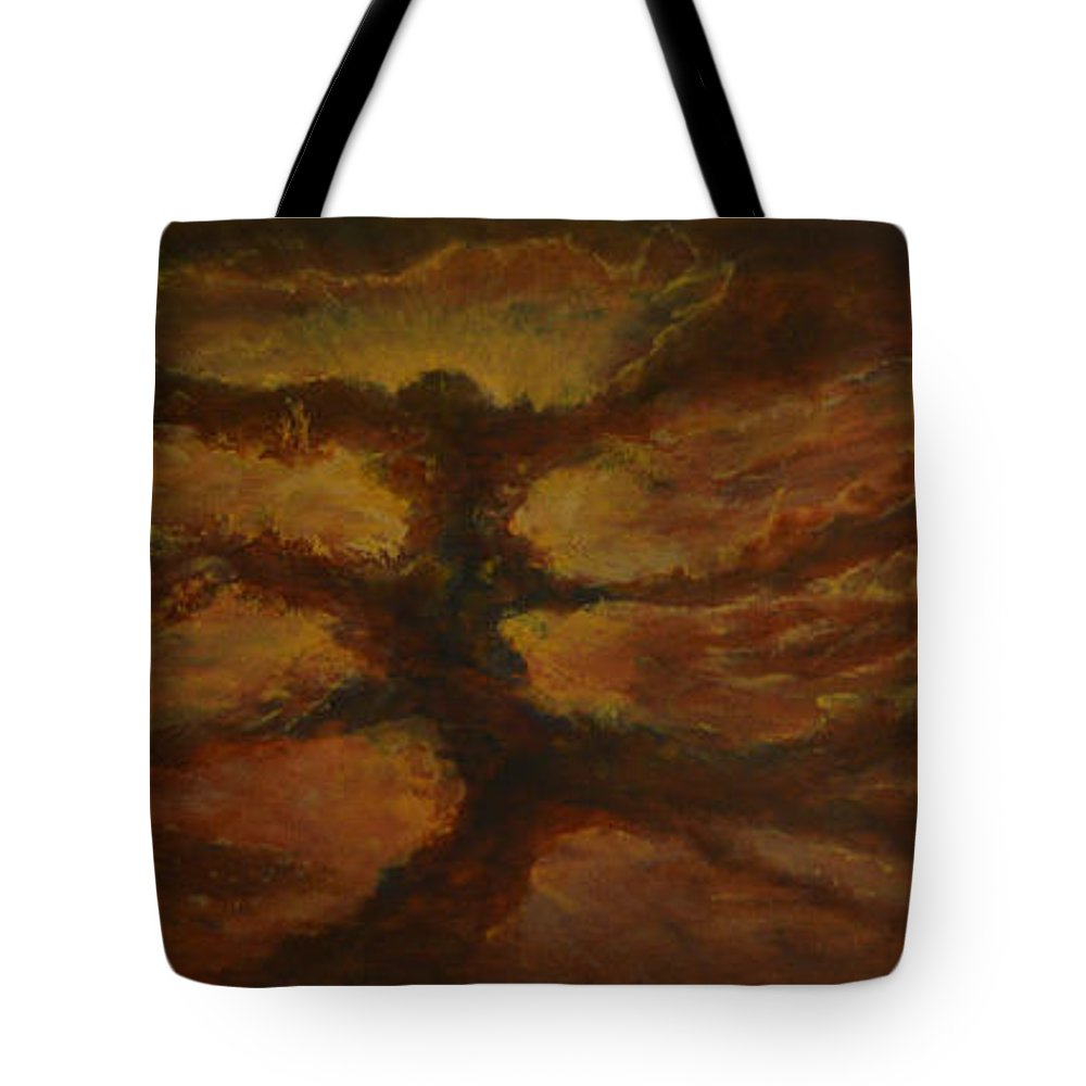 Space Tote Bag featuring the painting Spacestorm by Serdar Akkir