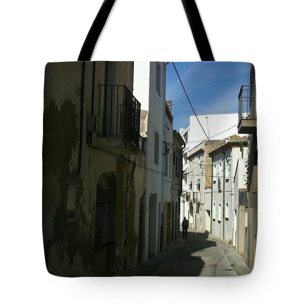 Spain Tote Bag featuring the photograph Spain One Way by Minaz Jantz