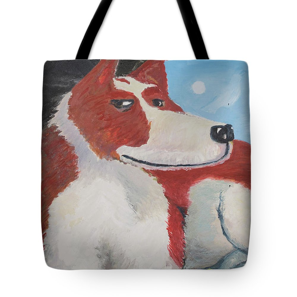 Cavalier King Charles Spaniel Tote Bag featuring the painting Spaniel Ancestor by Craig Newland