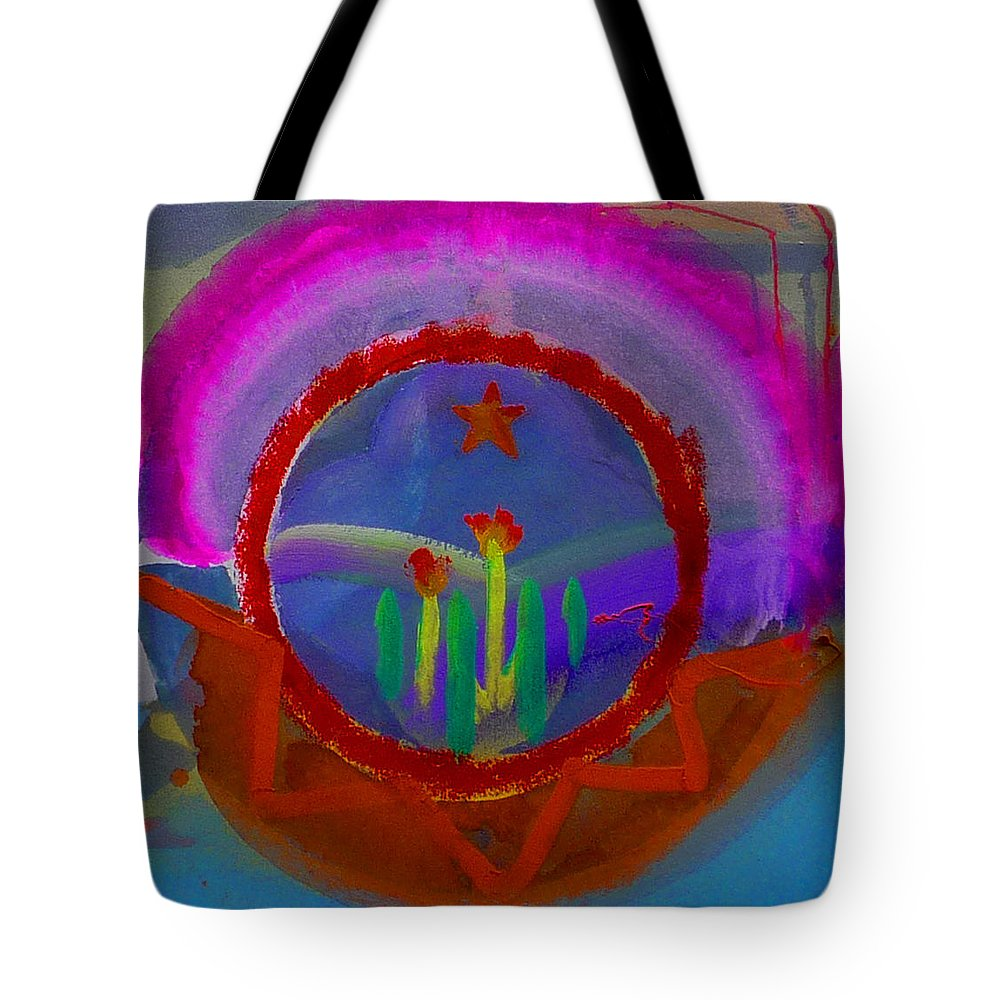 Love Tote Bag featuring the painting Spanish America by Charles Stuart