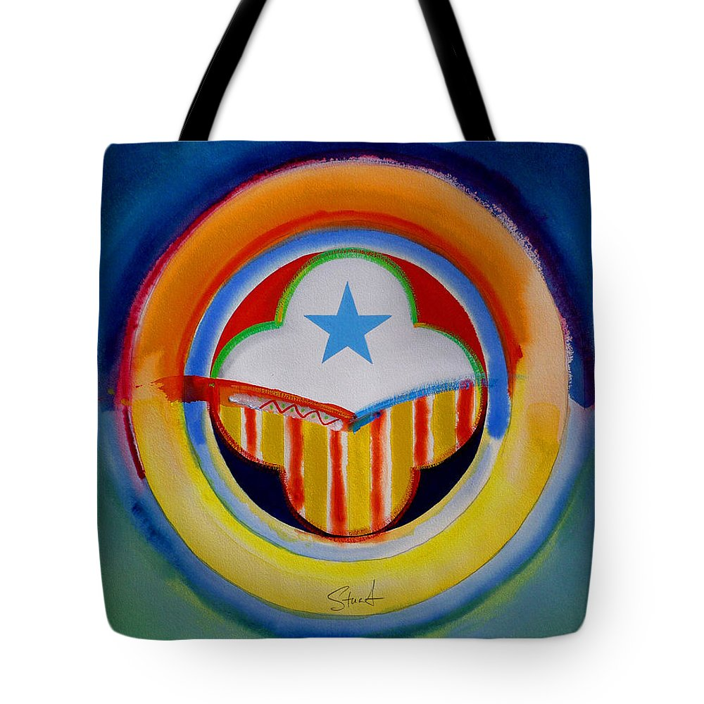 Button Tote Bag featuring the painting Spanish American by Charles Stuart