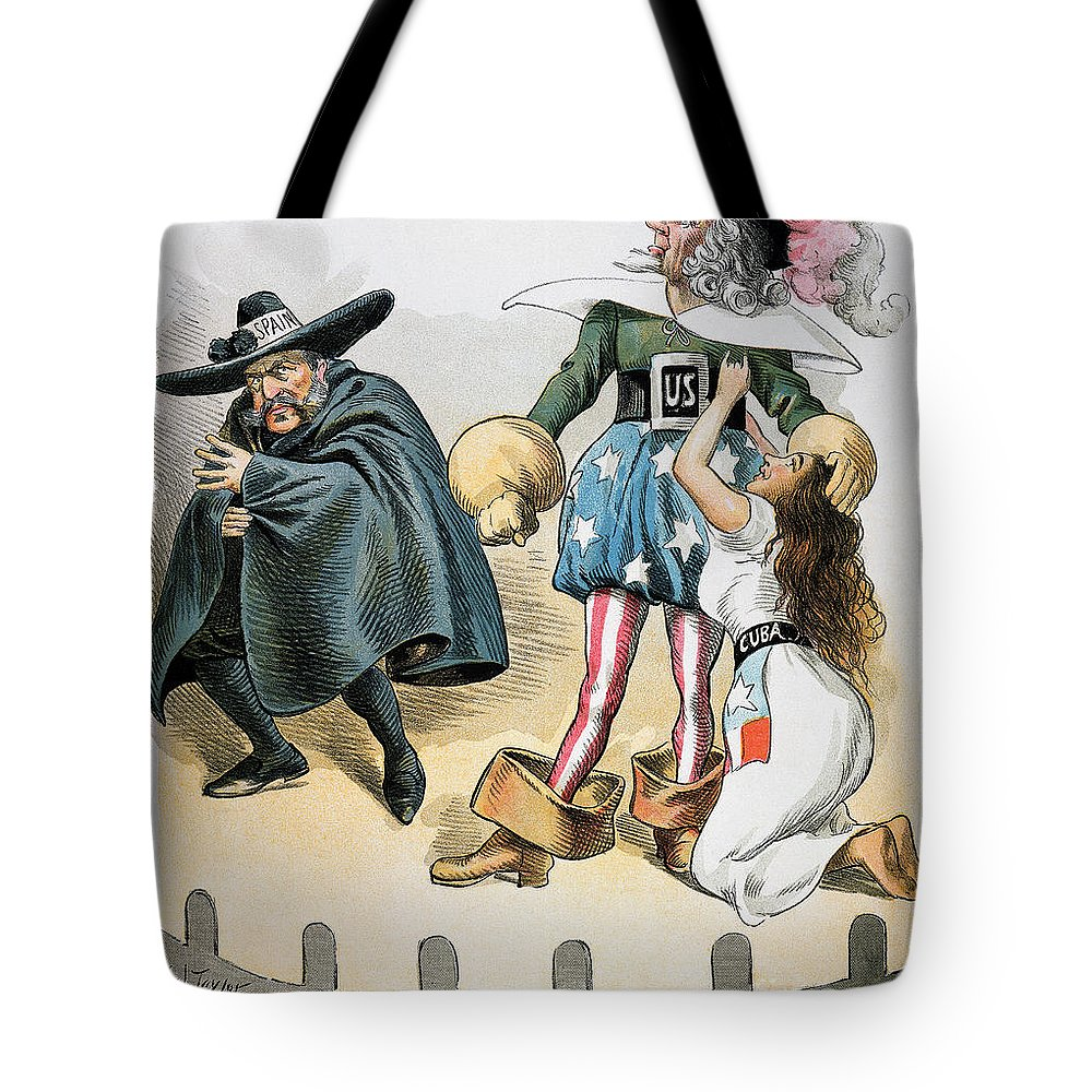 1896 Tote Bag featuring the photograph Spanish-american War, 1896 by Granger