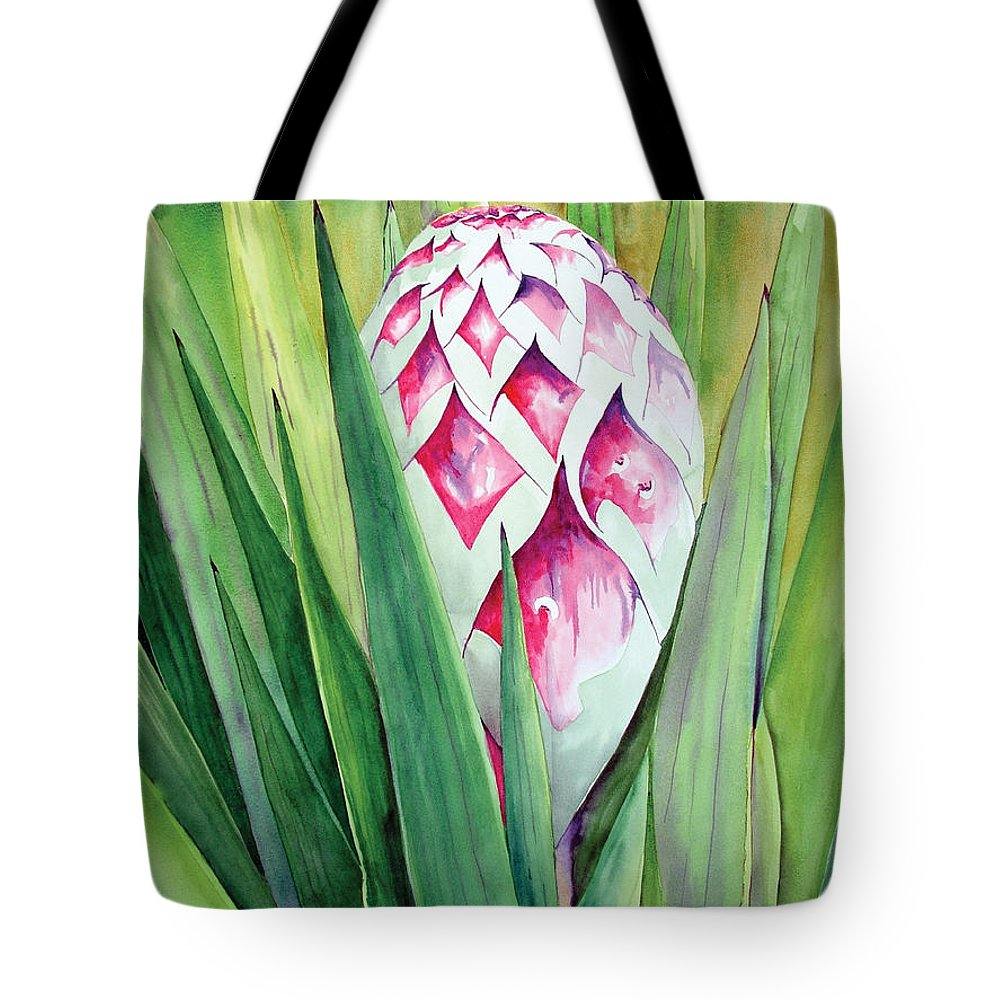 Floral Painting Tote Bag featuring the painting Spanish Dagger II by Kandyce Waltensperger