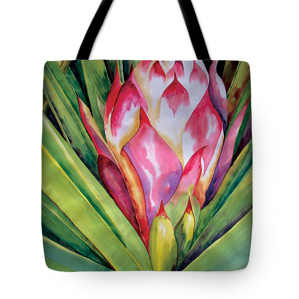 Floral Painting Tote Bag featuring the painting Spanish Dagger Iv by Kandyce Waltensperger