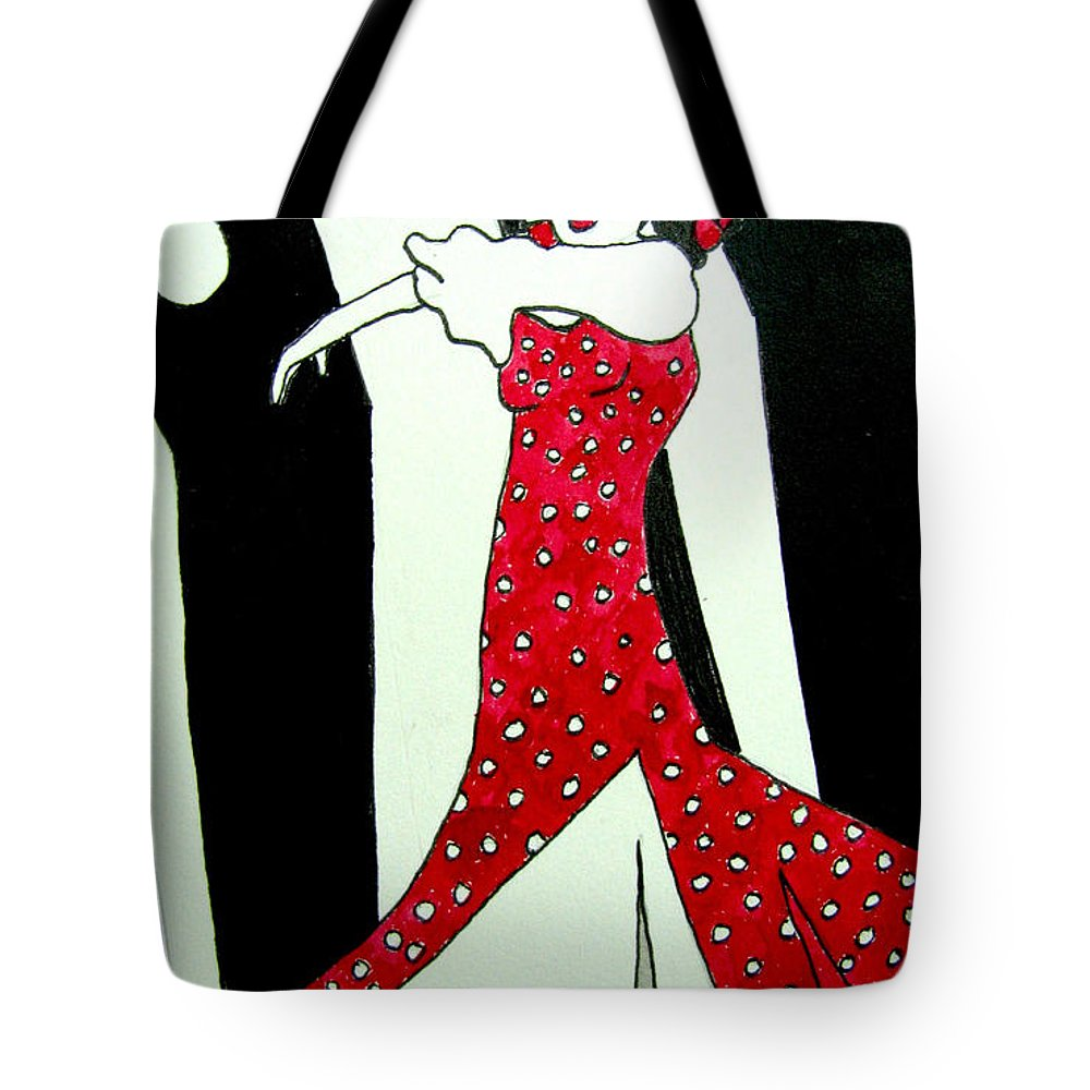 Spanish Art Tote Bag featuring the drawing Spanish Dancer II by Patricia Arroyo