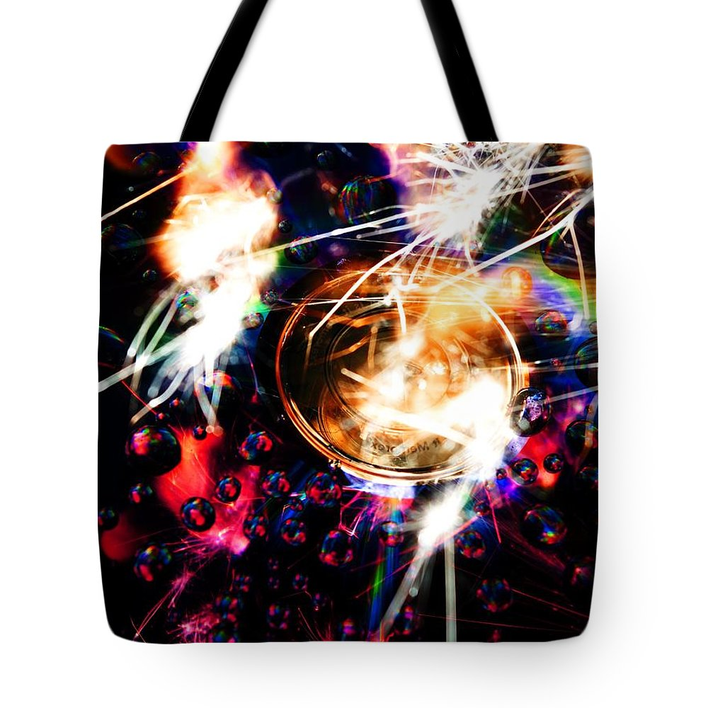 Tote Bag featuring the photograph Sparking Rainbow Cd by Gerald Kloss