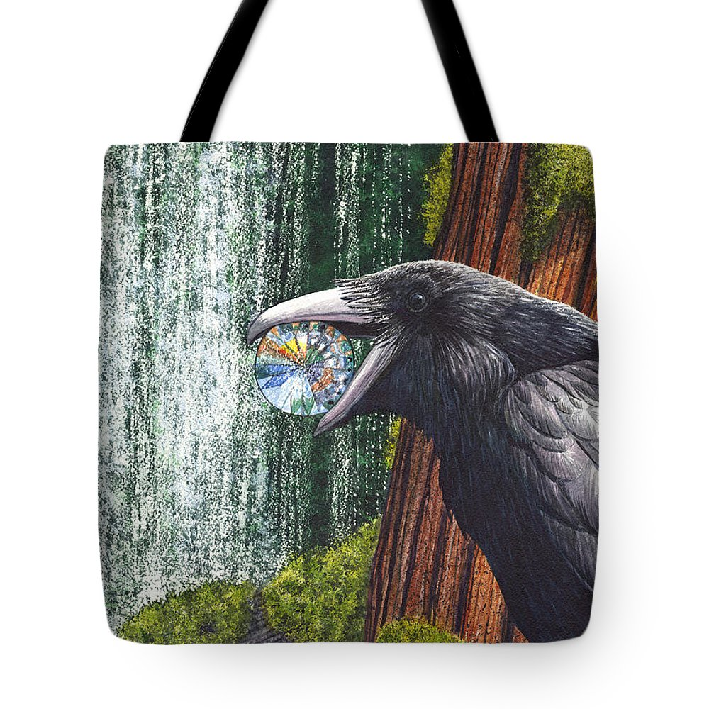 Raven Tote Bag featuring the painting Sparkle by Catherine G McElroy