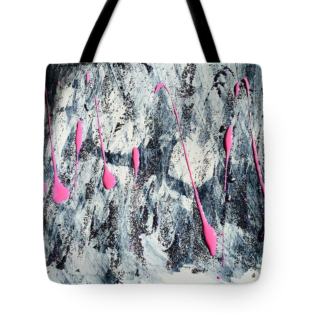 Abstract Tote Bag featuring the painting Sparkle by Jill Mills