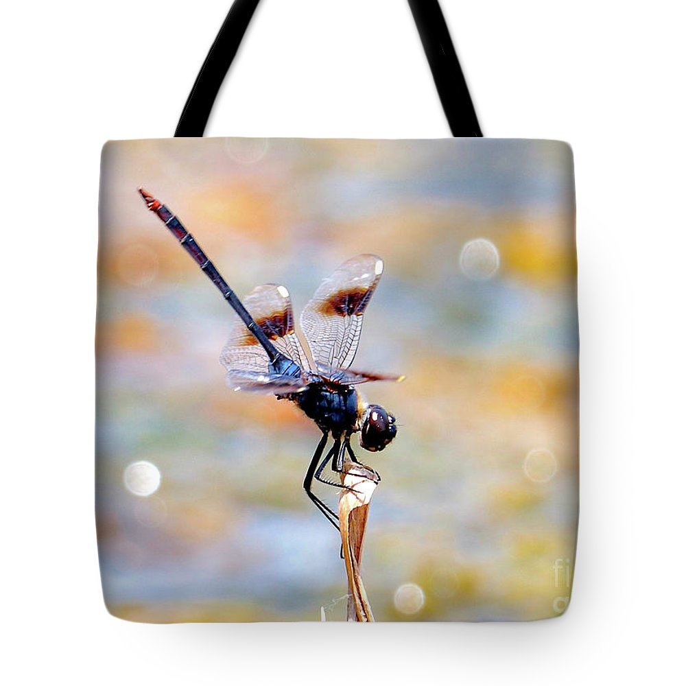 Dragonfly Tote Bag featuring the photograph Sparkler by Carol Groenen