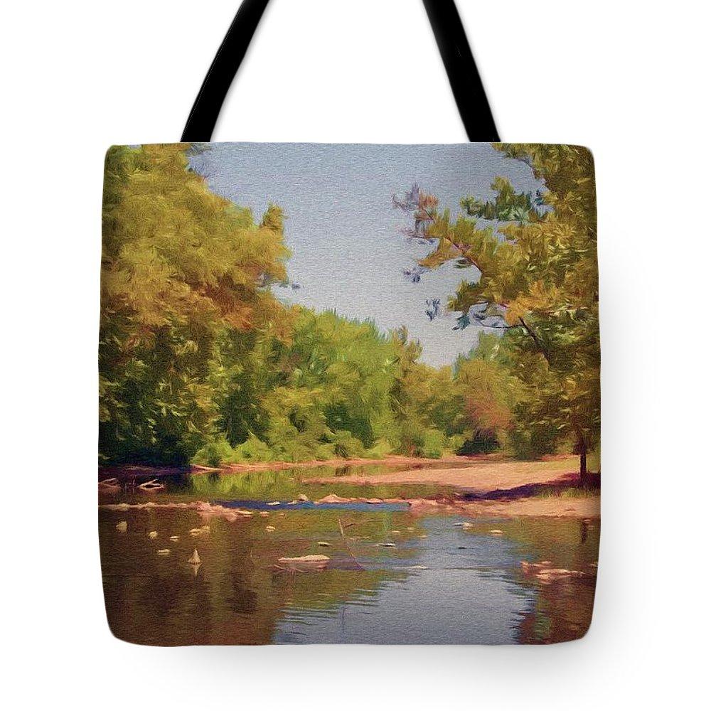 Creek Tote Bag featuring the painting Spavinaw Creek by Jeffrey Kolker