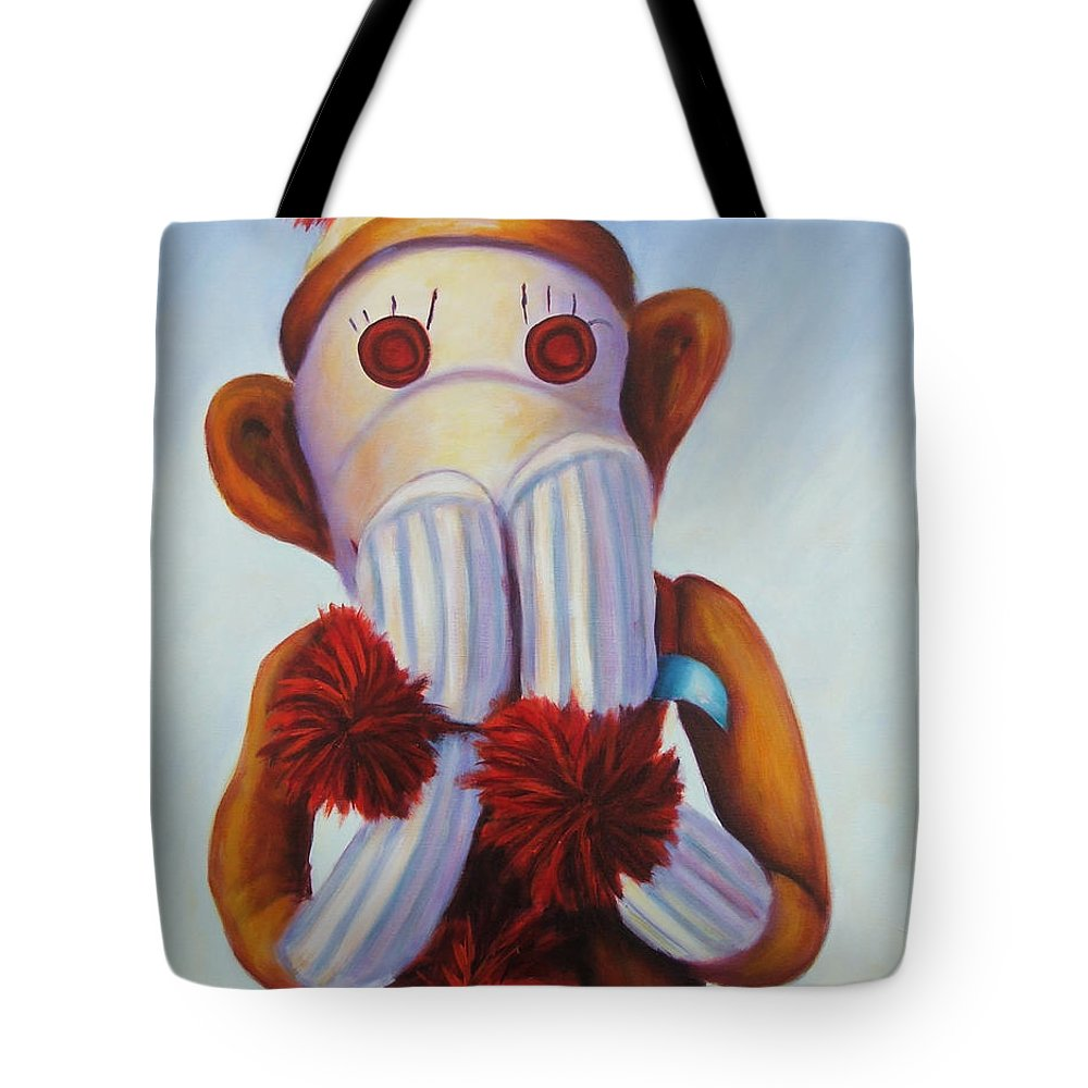 Children Tote Bag featuring the painting Speak No Bad Stuff by Shannon Grissom
