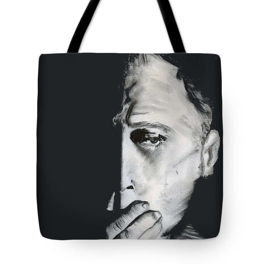 Man Tote Bag featuring the pastel Speak No Evil by Arline Wagner