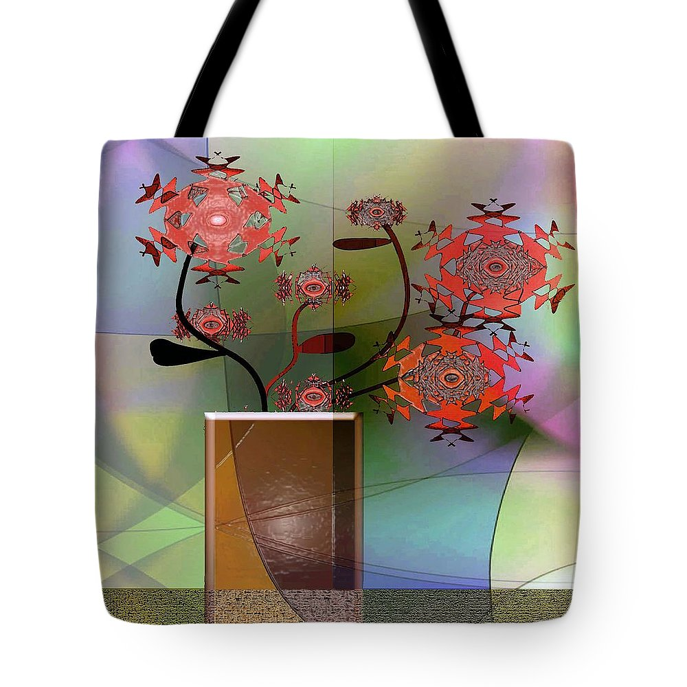 House Plant Tote Bag featuring the digital art Special Delivery 4 by Iris Gelbart