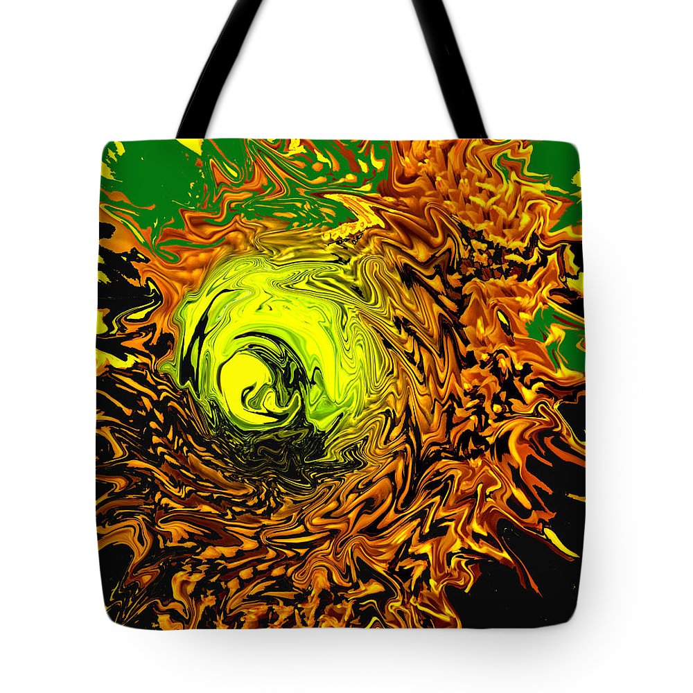 Abstract Tote Bag featuring the digital art Special by Ian MacDonald