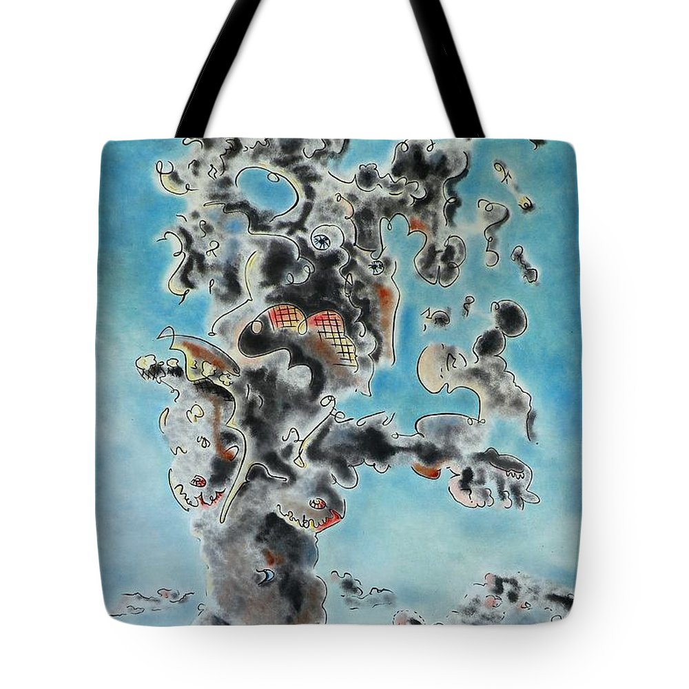 Surreal Tote Bag featuring the painting Spectre by Dave Martsolf