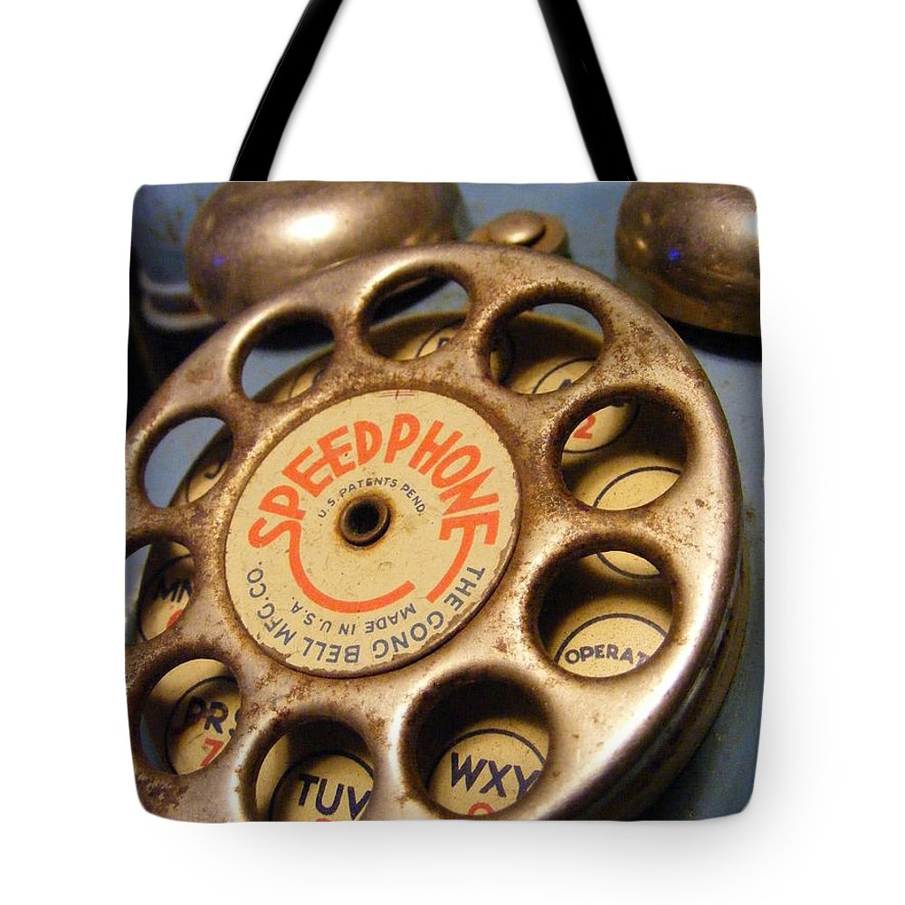 Phone Tote Bag featuring the photograph Speed Phone by Ed Smith