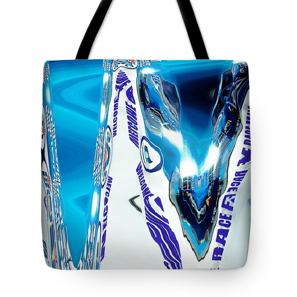 Abstract Tote Bag featuring the digital art Speedway-america The Addicted Series by Lenore Senior