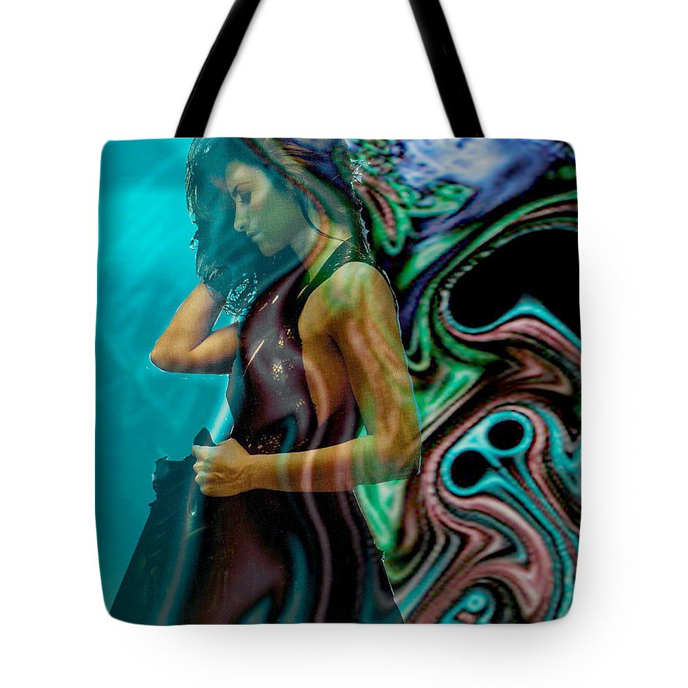 Beautiful Women Tote Bag featuring the digital art Spell Of A Woman by Seth Weaver