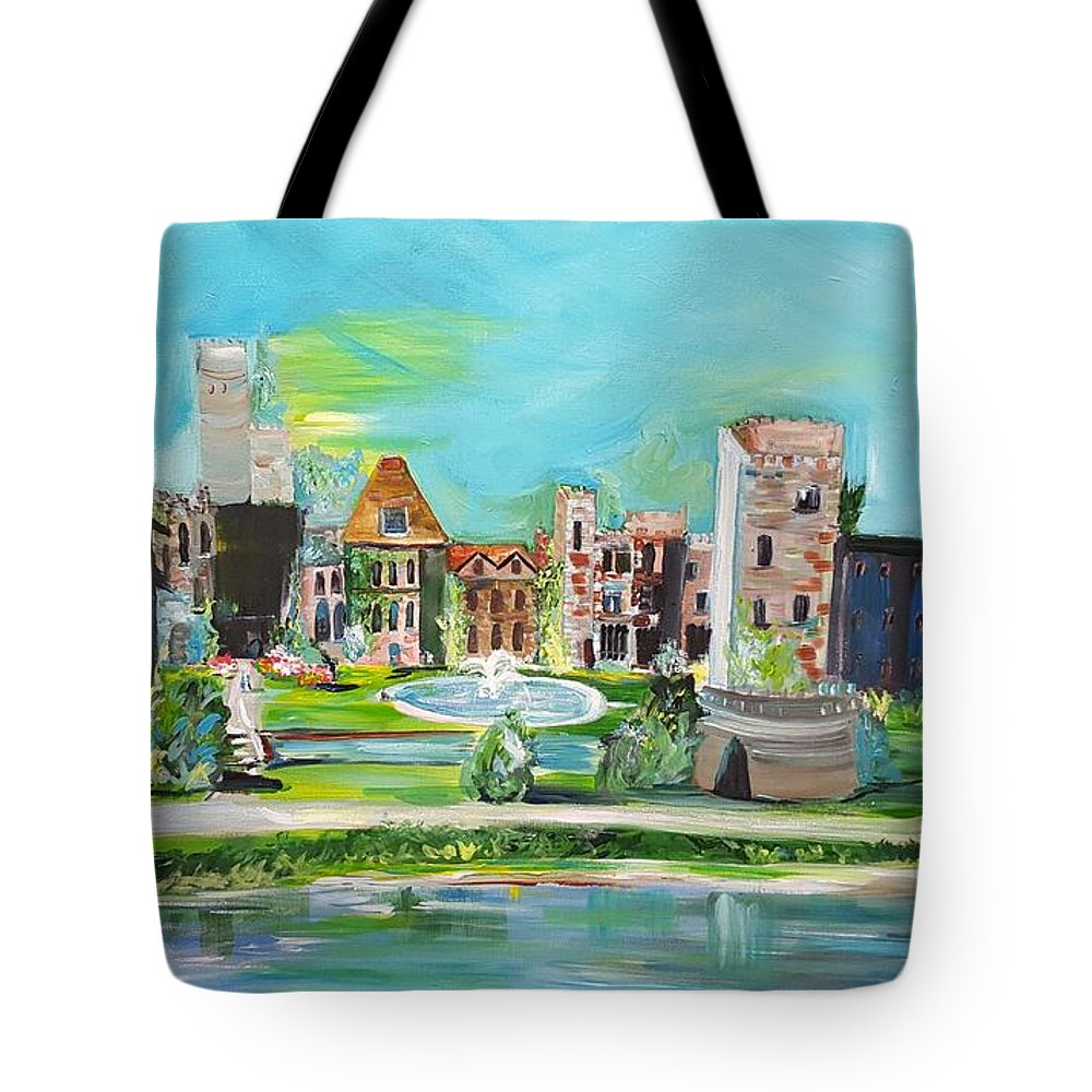 63fd34cfe5 Ashford Castle Tote Bag featuring the painting Spellbound Bv Ashford Castle  by Jill Morris