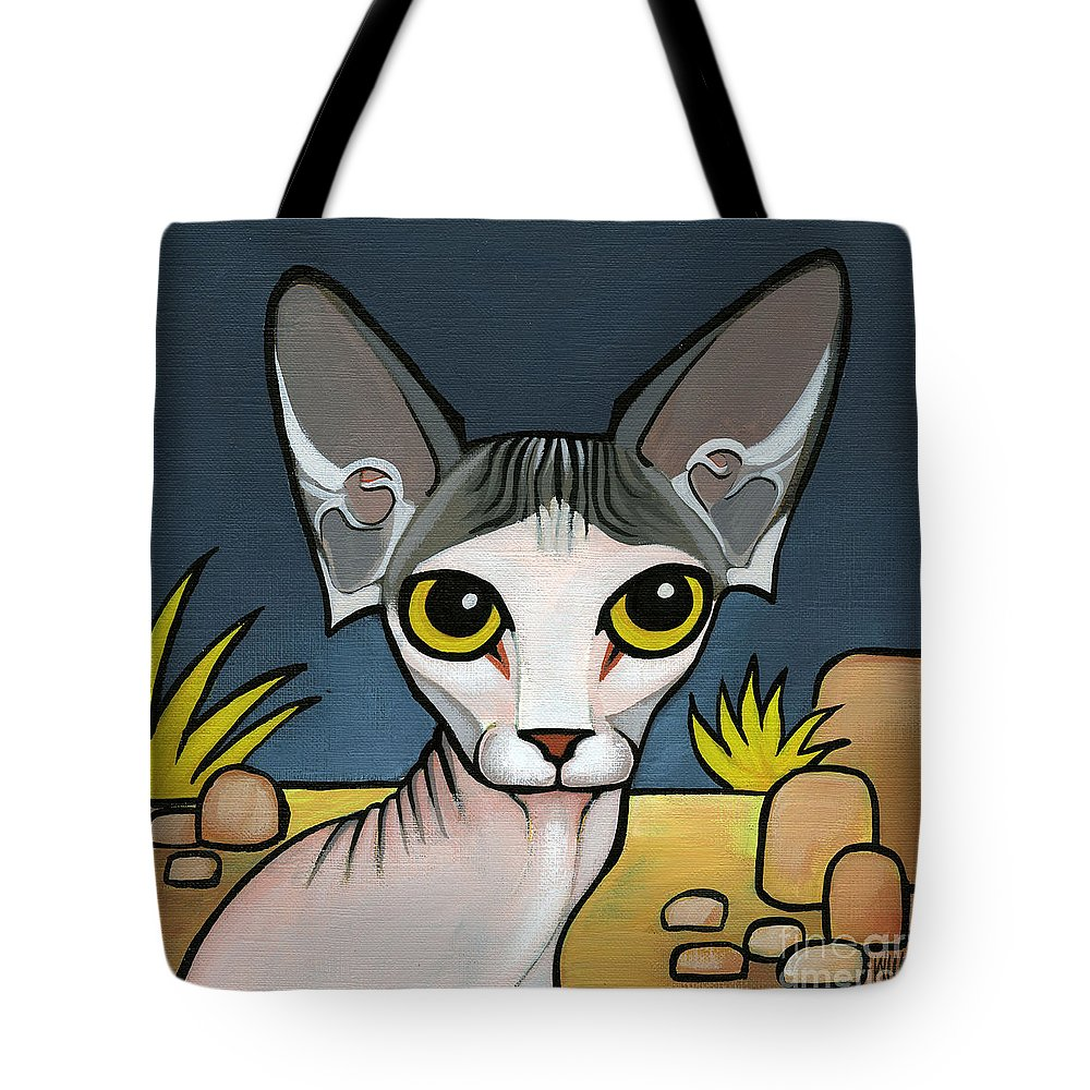 Sphinx Cat Tote Bag featuring the painting Sphinx Cat by Leanne Wilkes