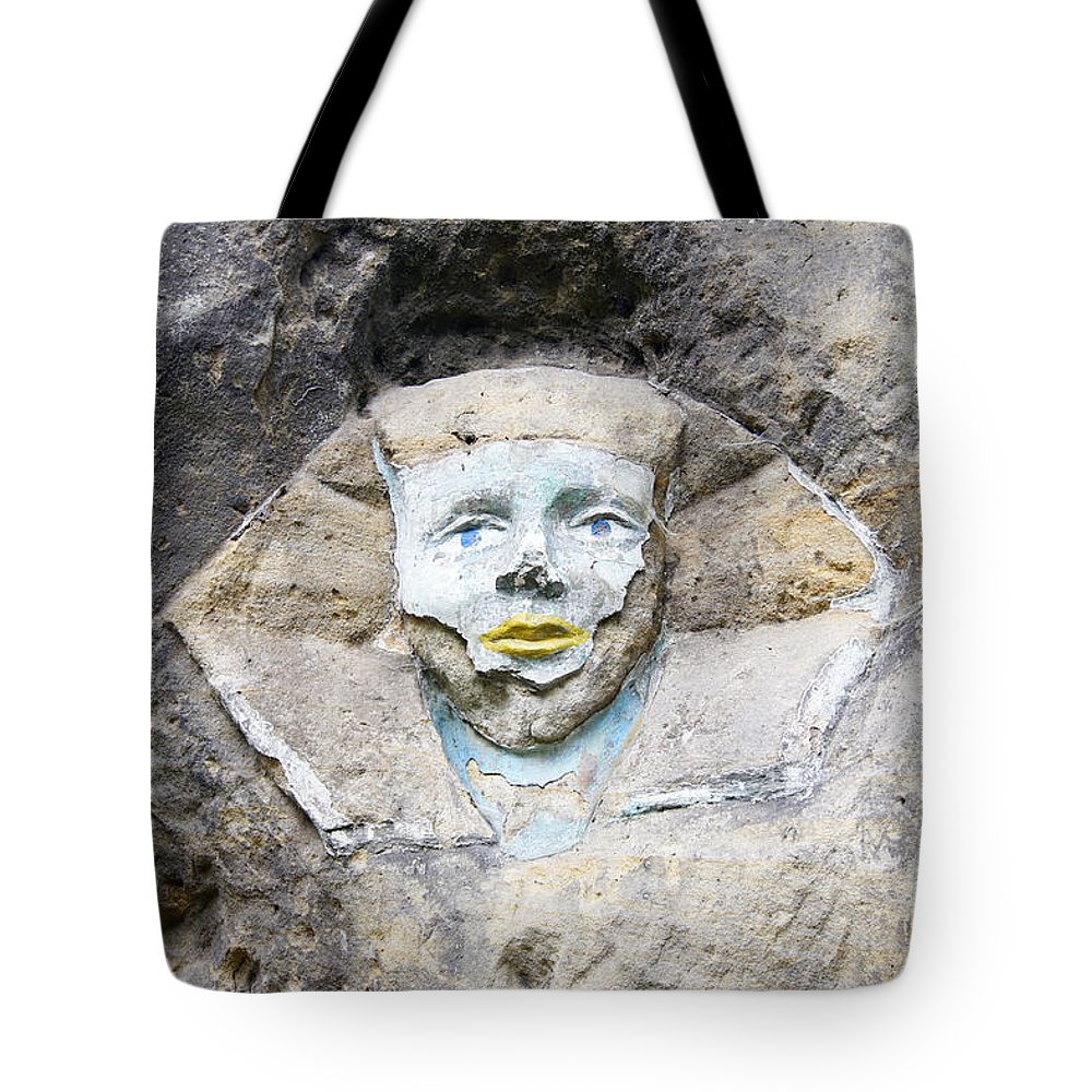 Sphinx Tote Bag featuring the photograph Sphinx - Rock Sculpture by Michal Boubin