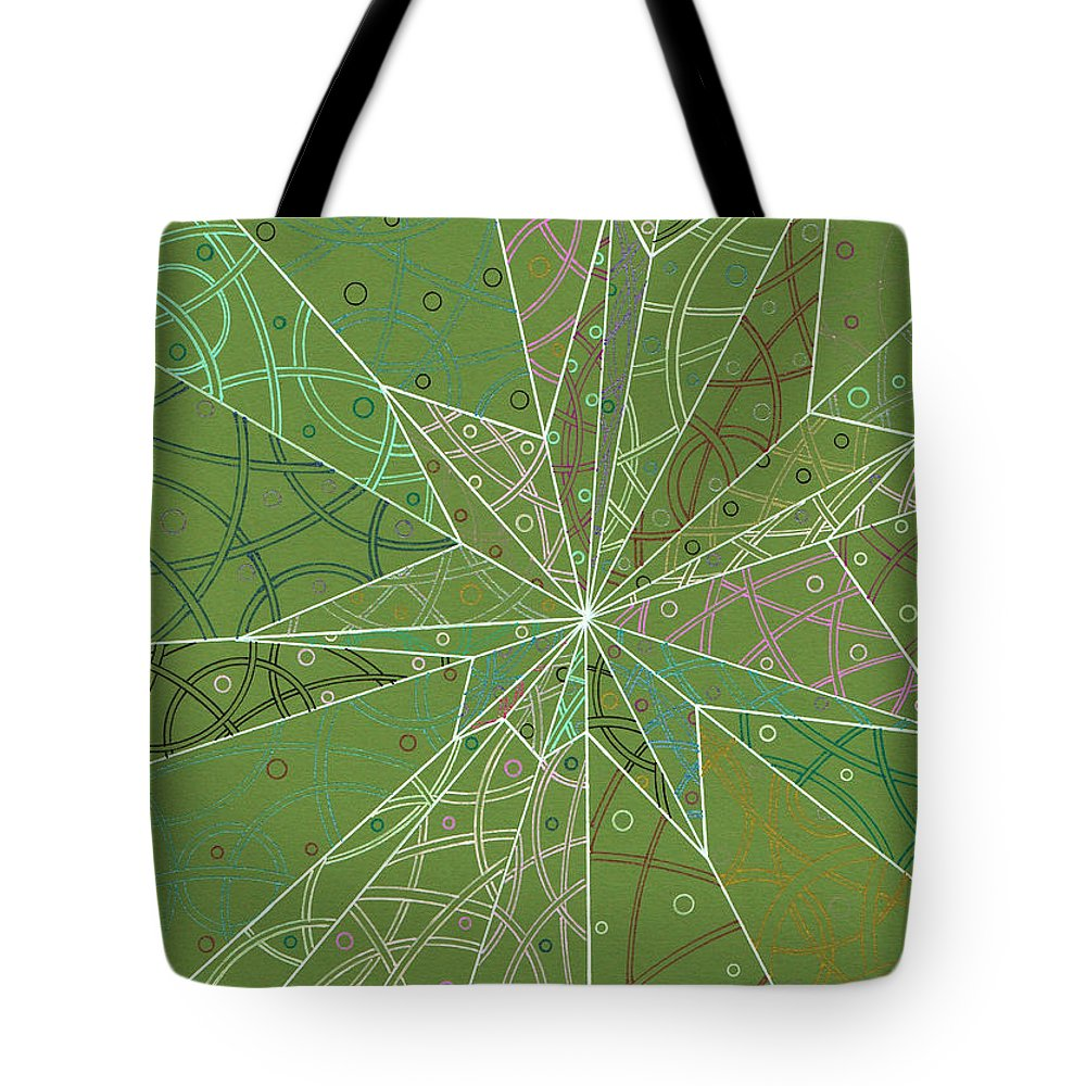Spider Tote Bag featuring the drawing Spider Silk by Amy Nelson