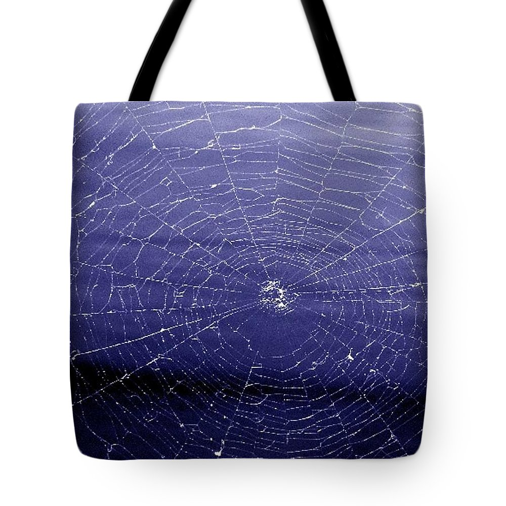 Web Tote Bag featuring the digital art Spiderweb by Kenna Westerman