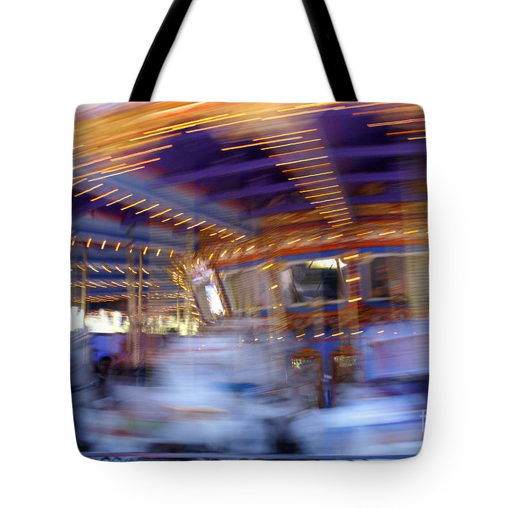 Ponies Tote Bag featuring the photograph Spin Fast by Linda Shafer