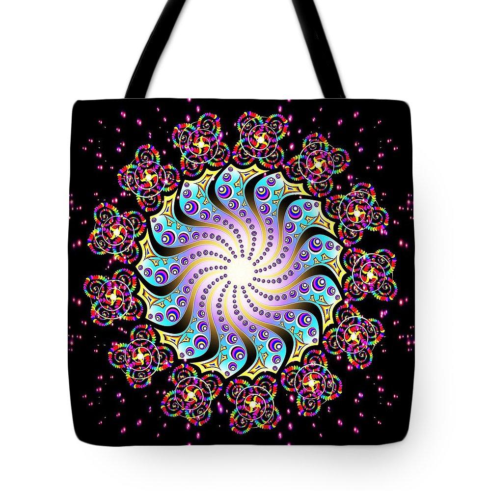 Spiral Tote Bag featuring the digital art Spiral Dance by The Awakening Art