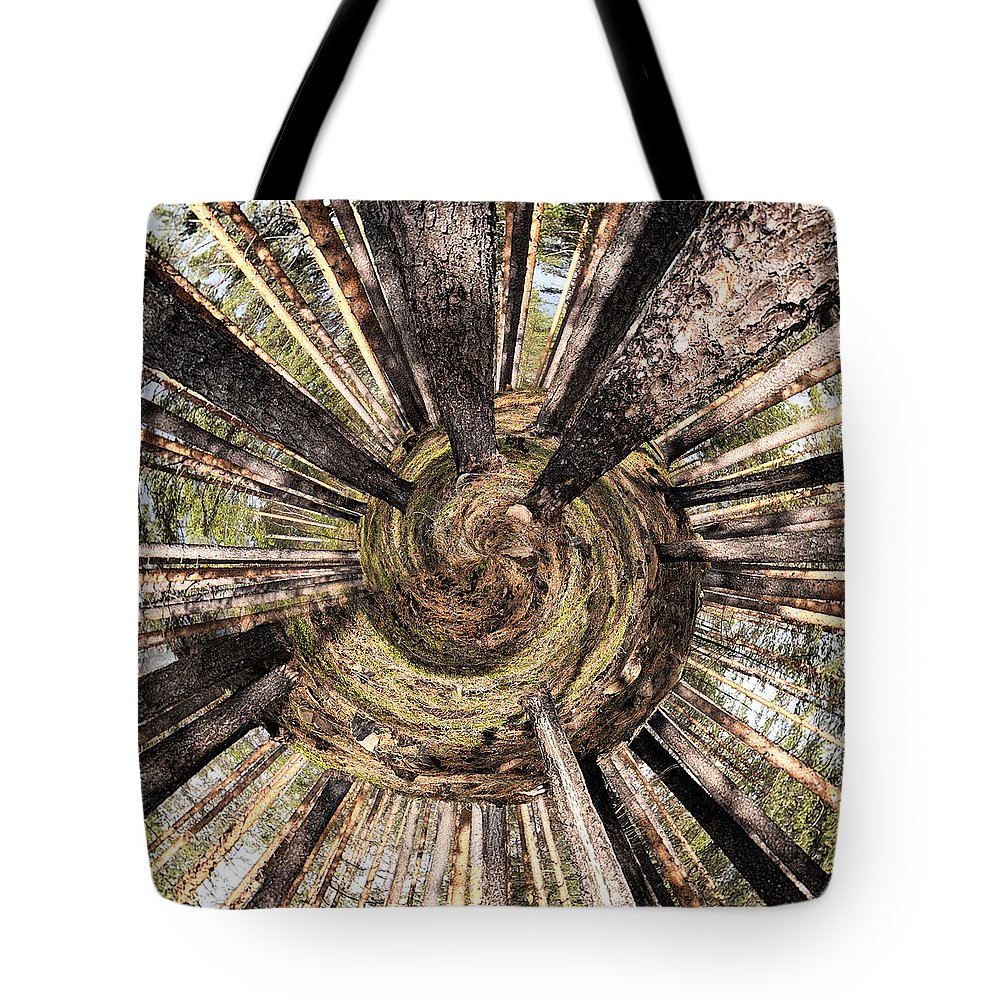 Lehtokukka Tote Bag featuring the photograph Spiral Of Forest by Jouko Lehto