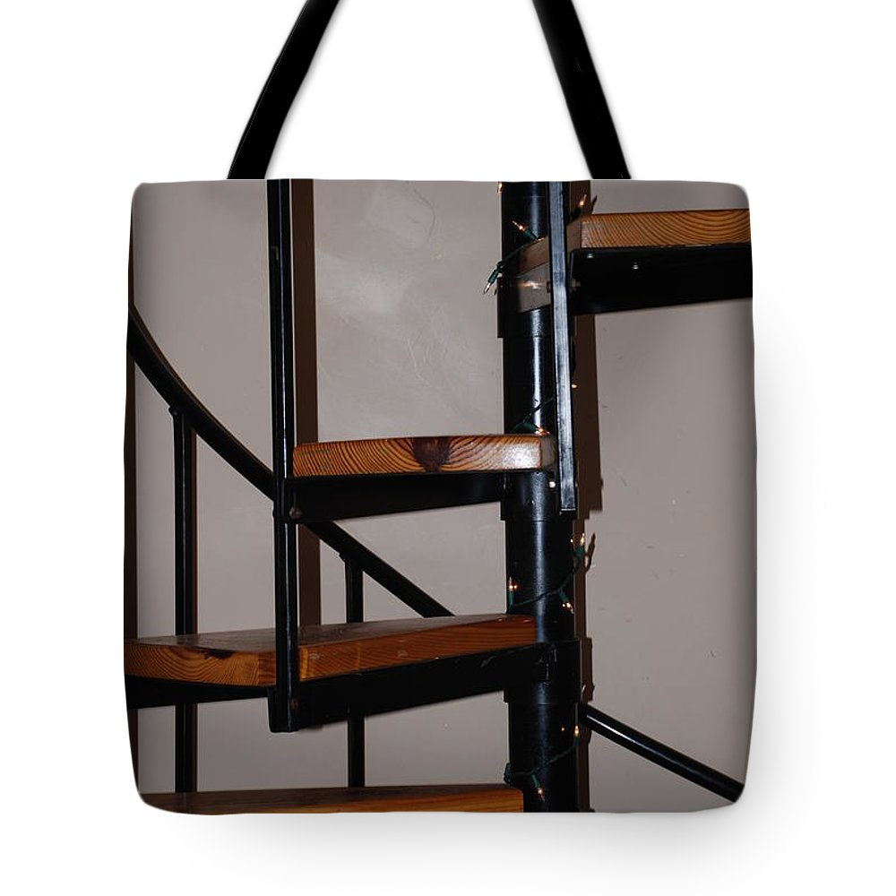 Stairs Tote Bag featuring the photograph Spiral Stairs by Rob Hans