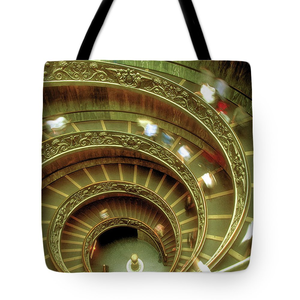 Vatican Tote Bag featuring the photograph Spiral by Surjanto Suradji