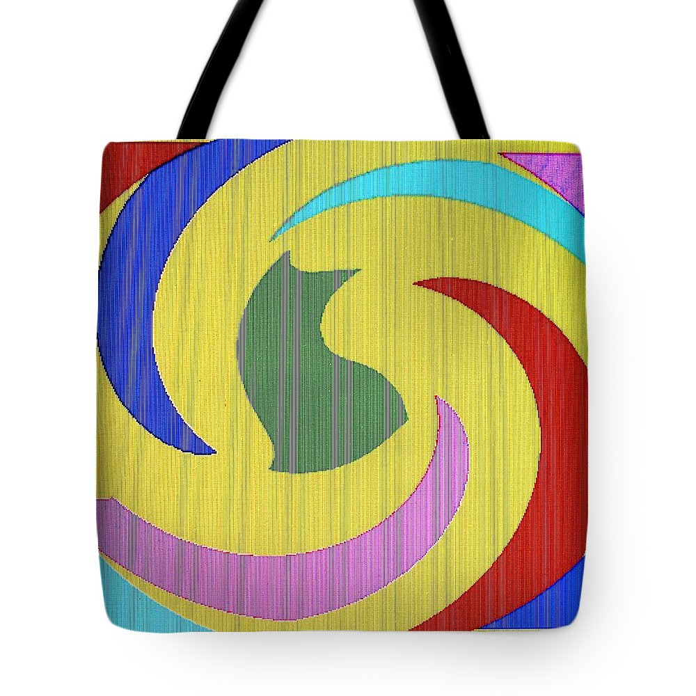 Abstract Tote Bag featuring the digital art Spiral Three by Ian MacDonald