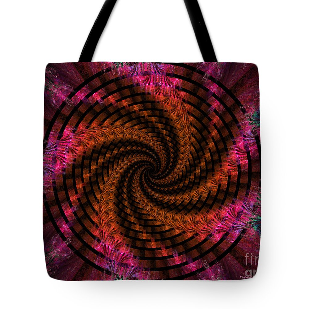 Digital Tote Bag featuring the digital art Spiraling Into The Abyss by Deborah Benoit
