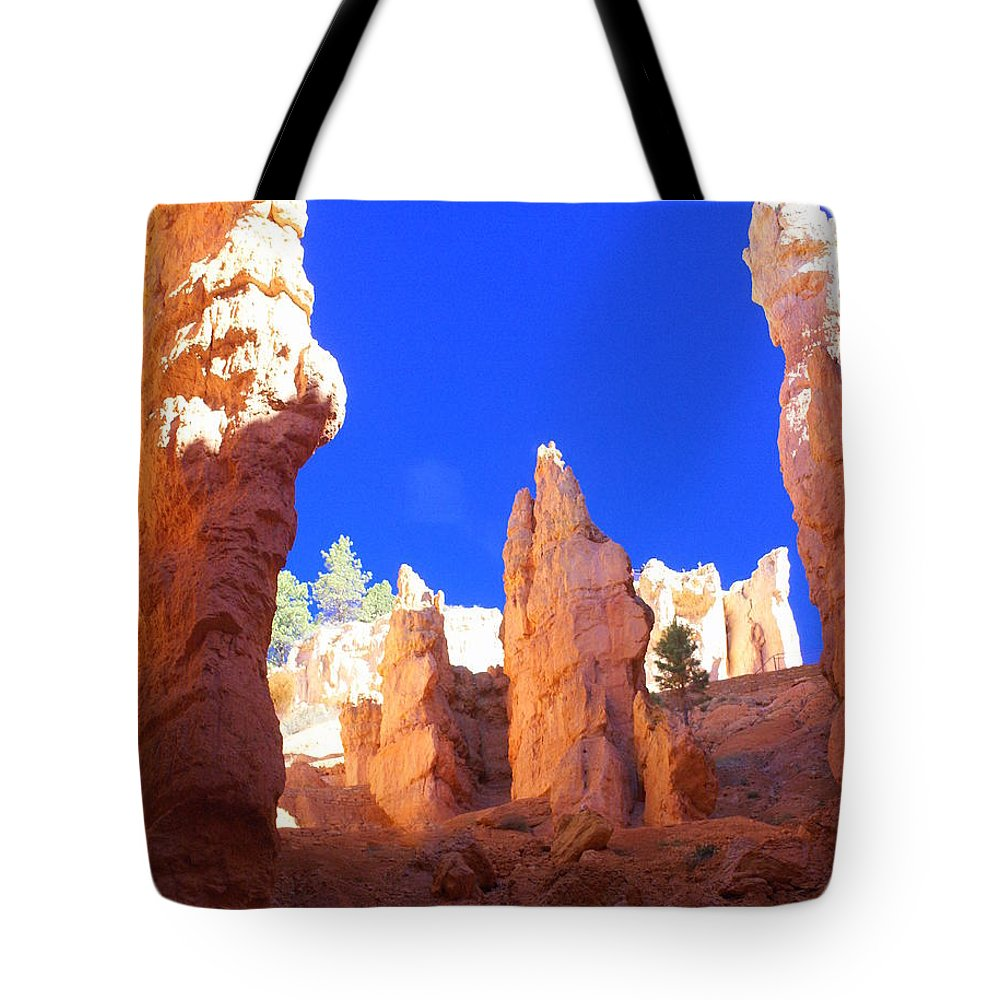 Bryce Canyon National Park Tote Bag featuring the photograph Spires by Marty Koch