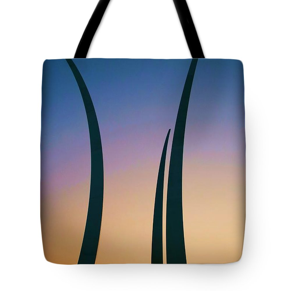 Usaf Tote Bag featuring the photograph Spirit And Dignity by Mitch Cat