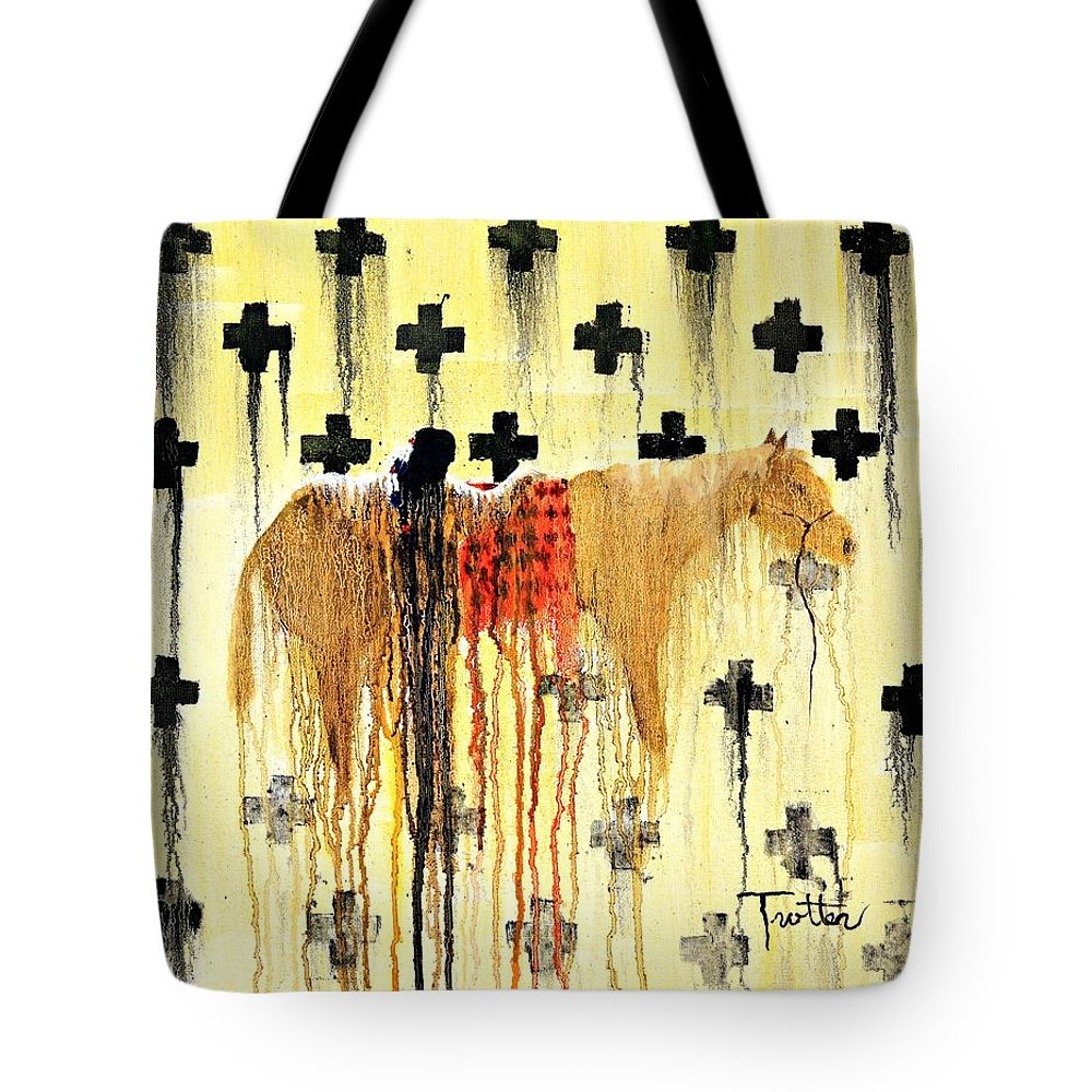 Spirit Paintings Tote Bag featuring the painting Spirit Blanket by Patrick Trotter