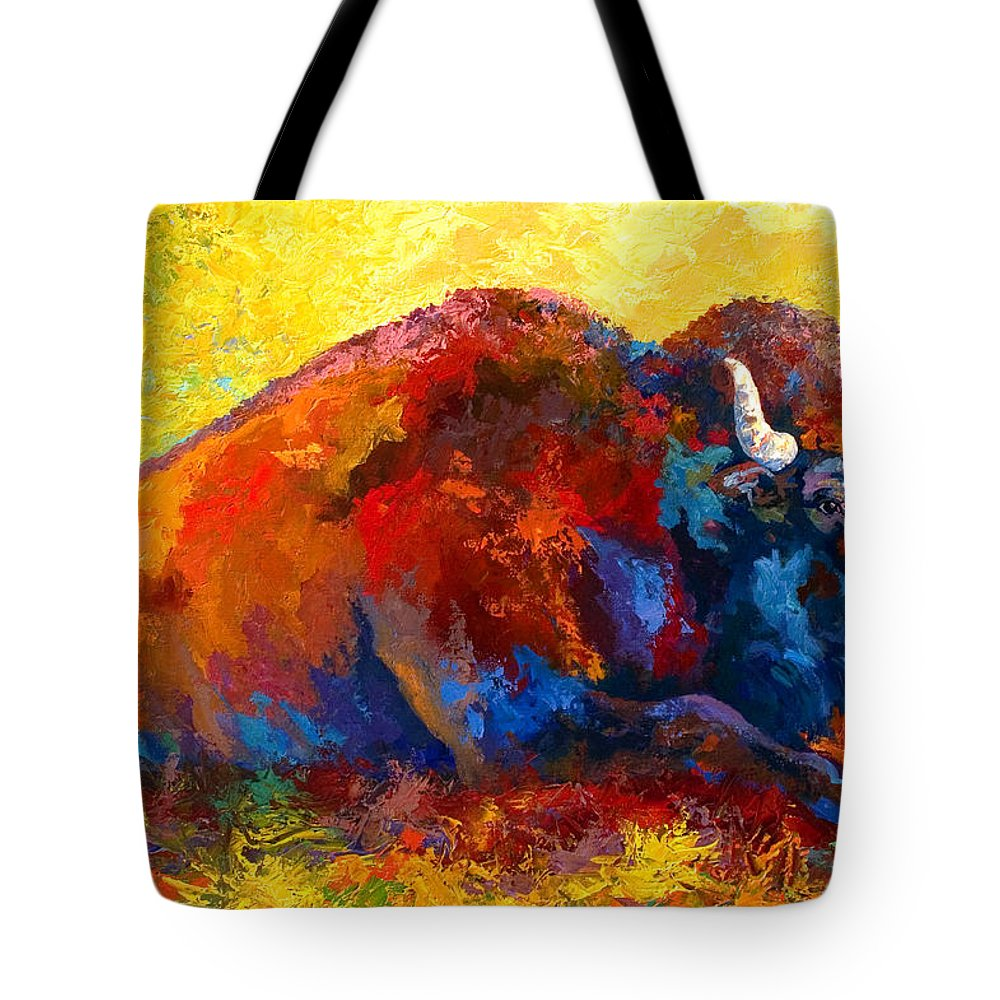 Wildlife Tote Bag featuring the painting Spirit Brother by Marion Rose