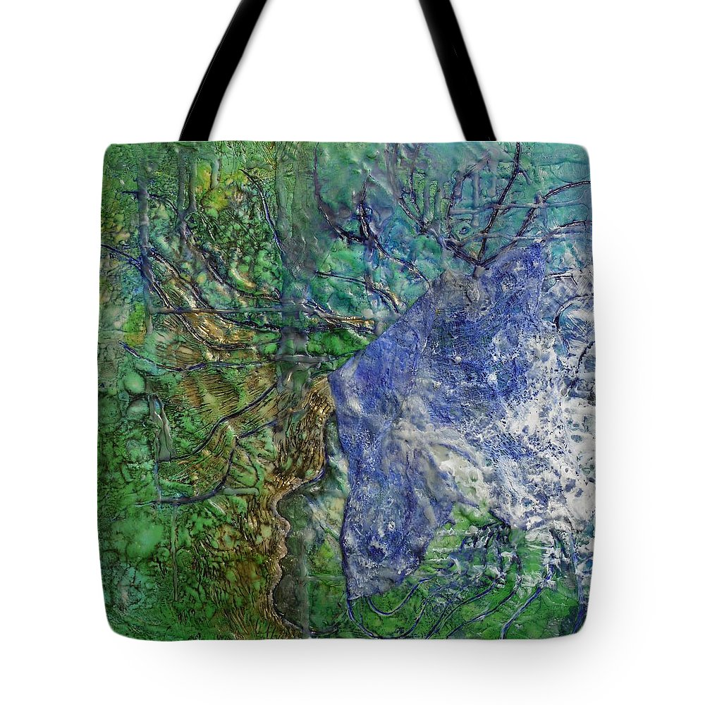 Spirit Guide Tote Bag featuring the painting Spirit Guide For Eve by Heather Hennick