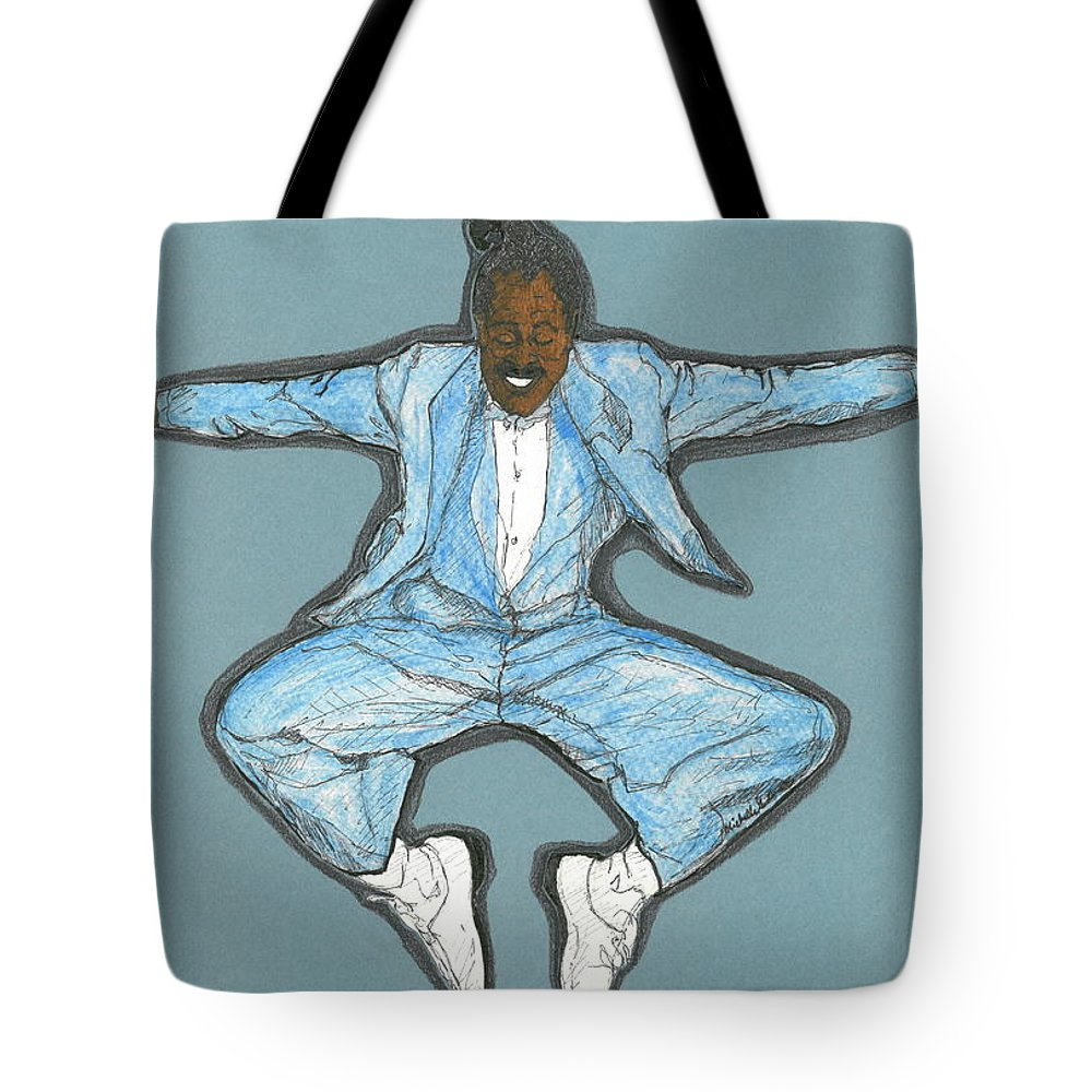 Cab Calloway Tote Bag featuring the mixed media Spirit Of Cab Calloway by Michelle Gilmore