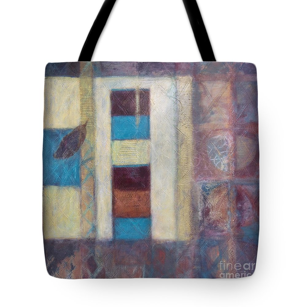 Spiritual Tote Bag featuring the painting Spirit Of Gold - States Of Being by Kerryn Madsen- Pietsch