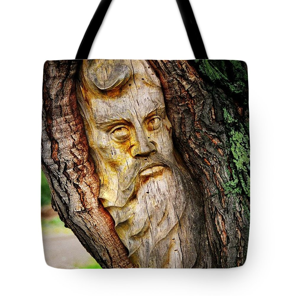 North America Tote Bag featuring the photograph Spirit Of The Forest ... by Juergen Weiss