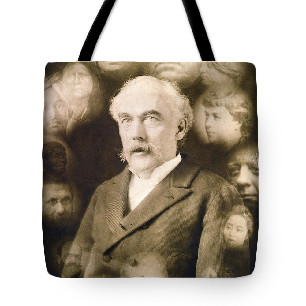 1901 Tote Bag featuring the photograph Spirit Photograph, C1901 by Granger
