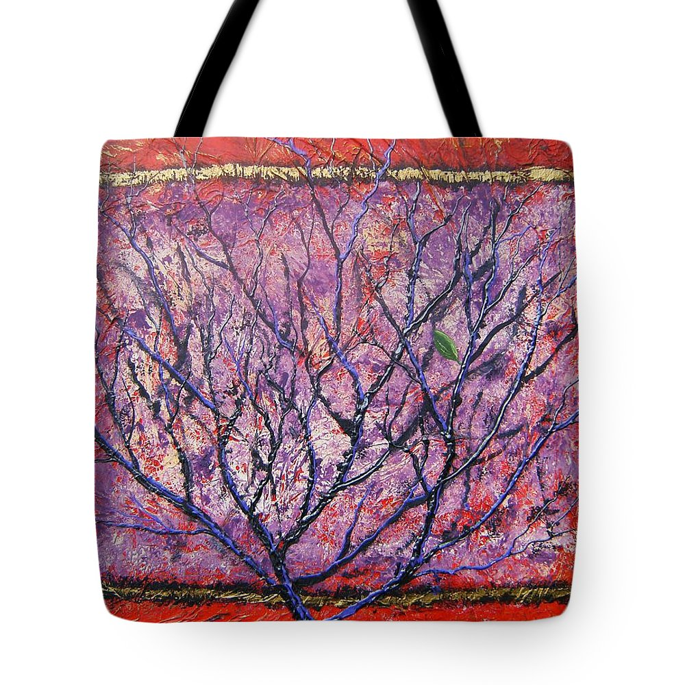 Nature Tote Bag featuring the painting Spirit Tree 6 by Tami Booher