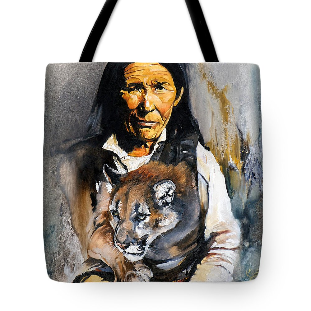 Spiritual Tote Bag featuring the painting Spirit Within by J W Baker
